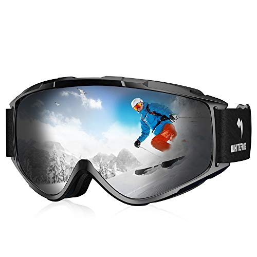 1fa8f95621 WhiteFang Ski Goggles Snow Snowboard Goggles Over Glasses Goggles Dual  Layer Lens