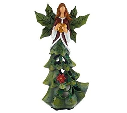 qvc home reflections h196383 angel tree luminary with flameless candle wtimer