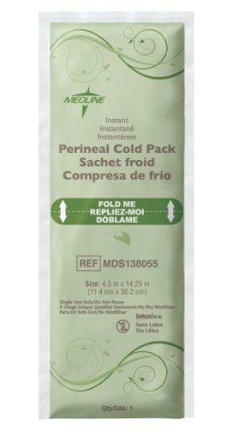 Medline MDS138055 Standard Perineal Cold Packs, 4.5'' x 14.25'', Pack of 24 by Medline