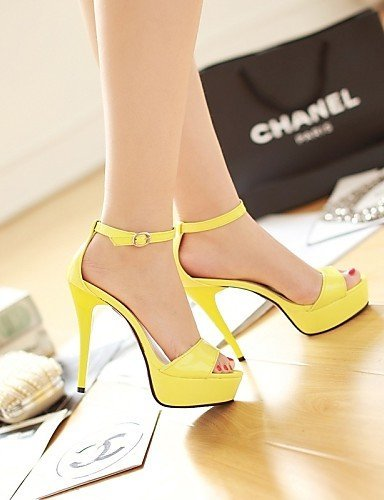 ShangYi Womens Shoes Stiletto Heel Slingback/Comfort Sandals Outdoor/Office & Career/Dress/Casual Black/Yellow/Pink/White/Beige almond