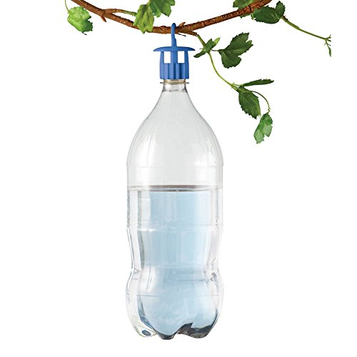 Plastic Bottle Top Collection - Bottle Insect Traps - Set of 6, Blue