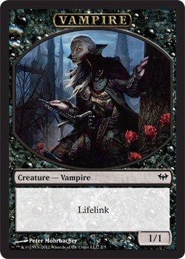Vampire Creature Token - Dark Ascension - Magic: the Gathering -