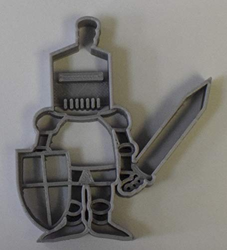 KNIGHT IN SHINING ARMOR SWORD FANTASY FAIRY TALE RENAISSANCE MEDIEVAL MIDDLE AGES SOLDIER COOKIE CUTTER FONDANT BAKING TOOL 3D PRINTED USA PR776