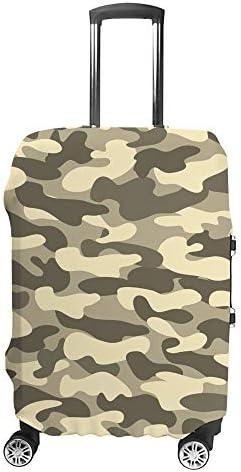 スーツケースカバー 迷彩柄 軍事スタイル 伸縮素材 キャリーバッグ お荷物カバ 保護 傷や汚れから守る ジッパー 水洗える 旅行 出張 S/M/L/XLサイズ
