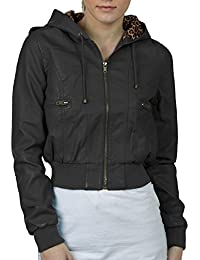 Amazon.com: Grey - Leather & Faux Leather / Coats, Jackets & Vests ...