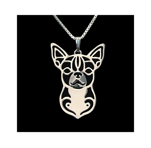 Silver Chihuahua Necklace by Unknown