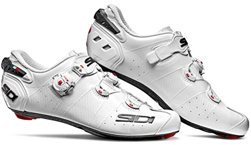 Women's Wire 2 Carbon Road Cycling Shoes (39.5, White/White) (Sidi Cover)