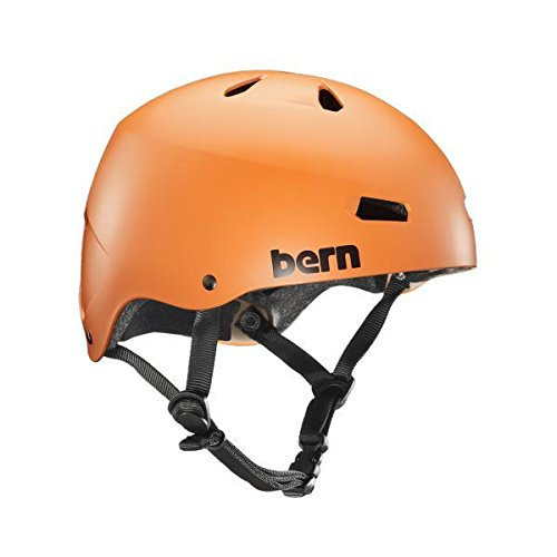 Macon Helmet Matte - Bern Unlimited Macon EPS Helmet (Matte Orange, Small)