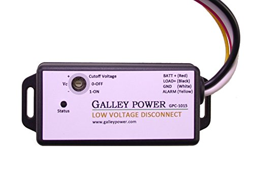30A Low Voltage Battery Disconnect with Alarm output, 12V/24V Auto Detect by Galley Power LLC