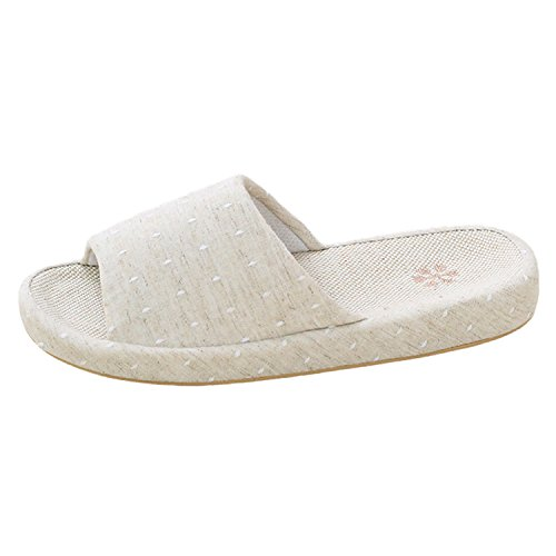 Bestfur Arche Design Respirant Confortable Beau Linge Intérieur Pantoufles Pour Les Femmes Blanc Cassé