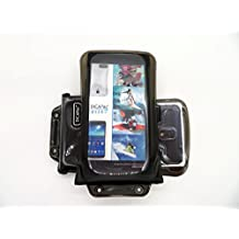 DiCAPac WP-C2 Universal Waterproof Case for ZTE Grand Memo / S II / S3 / X2 In in Black (Double Locking System; IPX8 Certified Underwater Protection; Super Clear Photo Lens)