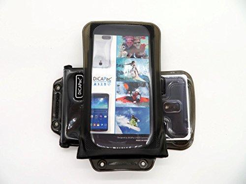DiCAPac WP-C2 [Universal Waterproof Case] for HTC Desire 816G Dual Sim, 820/Dual Sim, 826, Eye | IPX8 Certified Underwater Protection up 10M (Black)