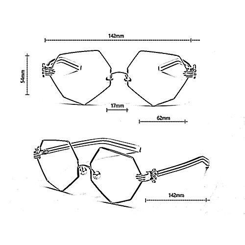 Octogonal de C de Cuidado Plano Irregular Amazing Nariz B de Gafas Perla Gafas Color Diamante Personalidad wqFxzx4XP