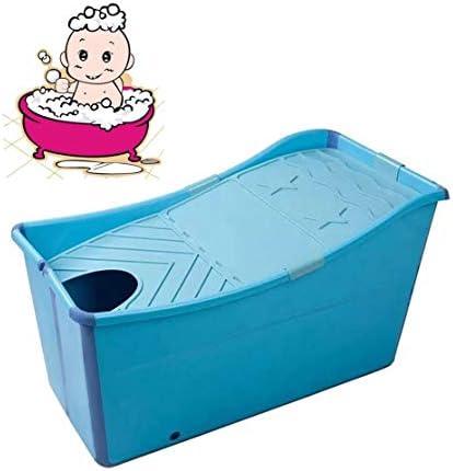 折りたたみバスタブ GYF 子供用プールプール新生児用浴槽 ベビータブ 折りたたみ式バスタブ 子供用バスタブ 環境を守ること 滑り止め 強い耐荷重 100x50x56cm (Color : Blue)