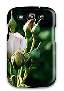 New Cute Funny Beautiful Rose Pink Green Nature Flower Case Cover/ Galaxy S3 Case Cover