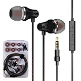 Earphones Bass Earbuds with Microphone in Ear Earbud Headphones with Mic and Volume