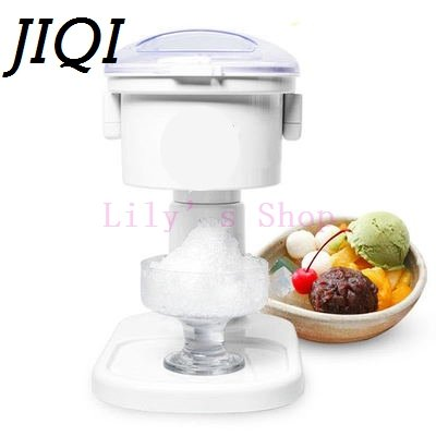Electric ice crusher shaver ice slush maker automatic ice Smoothie making machine snow cone machine for milk tea shop EU US plug by JIQI