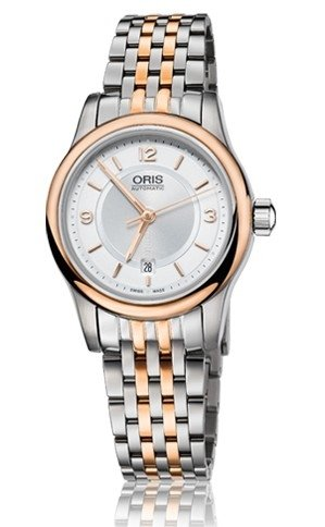 Oris Classic Date Silver Dial Two-tone Stainless Steel Ladies Watch 01 561 7650 4331-07 8 14 63