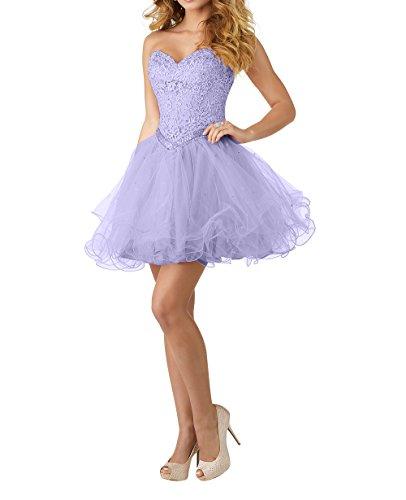 Promkleider Tuell mia Partykleider Abendkleider Brau Herzausschnitt Lilac La A Linie Spitze Kurzes Cocktailkleider Mini Rock SWvdBqBzw