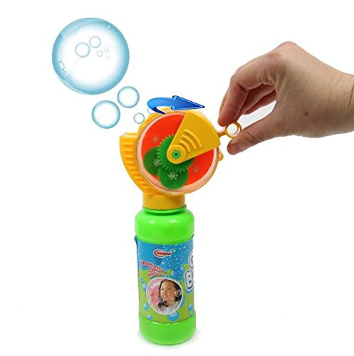 Bubble Blower with Squeeze Bottle Game - Blow Bubbles with Hand-Operated Wand, Includes 8oz Bottle with Bubbles Solution, by Dazzling Kids