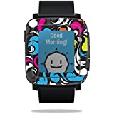 MightySkins Protective Vinyl Skin Decal Pebble Time Smart Watch Cover wrap Sticker Skins Swirly