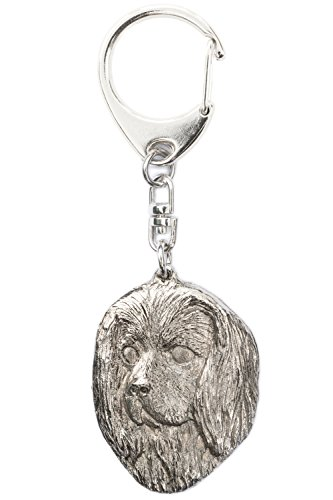 Cavalier King Charles Spaniel (Head) Made in U.K Artistic Style Dog Key Ring Collection ()