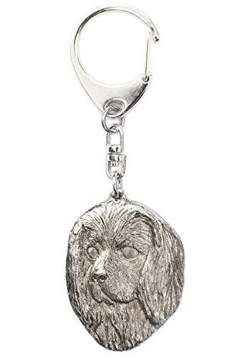 Cavalier King Charles Spaniel (Head) Made in U.K Artistic Style Dog Key (Miniature Cavalier King Charles Spaniel)