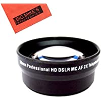 52mm 2X Telephoto Lens for Canon Digital EOS Rebel SL1, T1i, T2i, T3, T3i, T4i, T5, T5i EOS60D, EOS70D, 50D, 40D, 30D, EOS 5D, EOS5D Mark III, EOS6D, EOS7D, EOS7D Mark II, EOS-M Digital SLR Cameras Which Has Any Of These Canon Lenses 50mm f/1.8 II, 135mm f/2.8, EF 50mm f/2.5, EF-S 60mm f/2.8, EF-S 24mm f/2.8 STM
