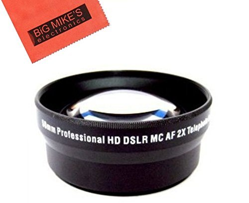 58mm 2X Telephoto Lens For Canon Digital EOS Rebel SL1, T1i, T2i, T3, T3i, T4i, T5, T5i EOS60D, EOS70D, 50D, 40D, 30D, EOS 5D, EOS5D Mark III, EOS6D, EOS7D, EOS7D Mark II, EOS-M Digital SLR Cameras Which Has Any Of These Canon Lenses 18-55mm IS II, 55-250mm, 55-250mm, 18-250mm, 18-250mm, 50mm 1.4 , 55-200mm. 70-300mm, 75-300mm, 100-300mm, EF 24mm f/2.8, 28mm f/1.8, 50mm f/1.4, 85mm f/1.8, EF 100mm f/2.8