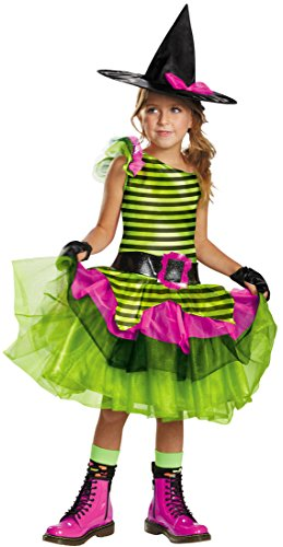 Child Witch Neon Costume (Neon Witch Costume Child S Small 4-6 Kids Halloween Dress Punky Punk)
