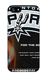 Excellent Iphone 5/5s Case Tpu Cover Back Skin Protector San Antonio Spurs