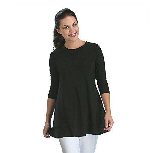 IC Collection Basic Tunic in Black 1484T (Medium) Basic Black Collection