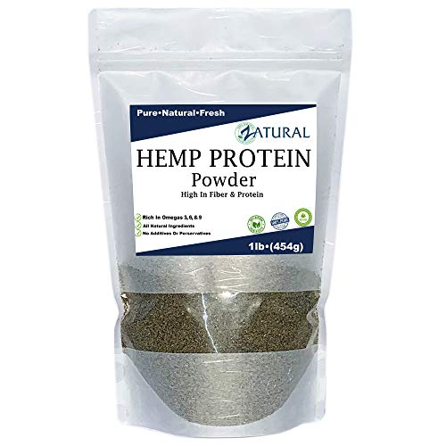 100% Pure Hemp Protein - Canadian farmed - All Natural - High Protein - High Fiber (1 Pound)