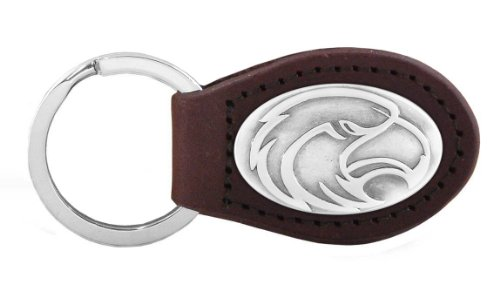 NCAA Southern Mississippi Golden Eagles Zep-Pro  Leather Concho Key Fob, Brown