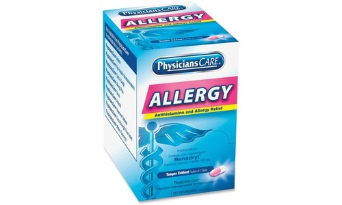 Acme Medicine - Acme United 90036 Allergy Reflief Tablet Packets 50/BX Blue