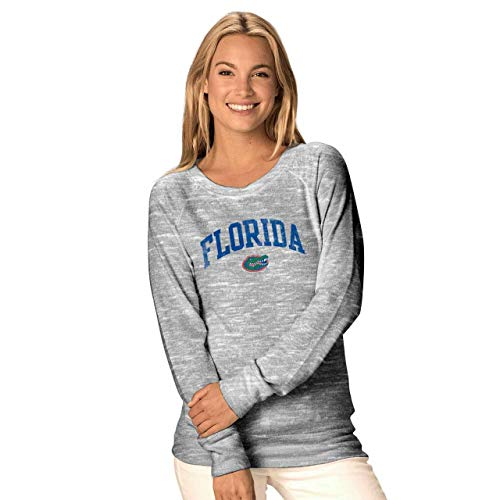 - Camp David Florida Gators Womens Ultimate Lightweight Carefree Crewneck - Gray, Womens Small