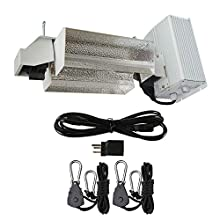 Hydro Crunch DE01-1000-ROPE 1000-Watt Double Ended HPS Pro Series Open Style Grow Light System 120-Volt/240-Volt, White