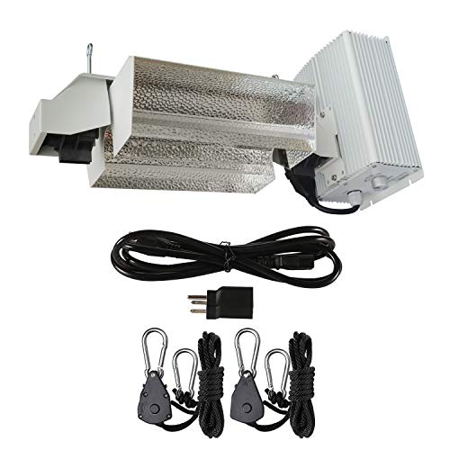 Hydro Crunch DE01-1000-ROPE 1000-Watt Double Ended HPS Pro Series Open Style Grow Light System 120-Volt/240-Volt, - Series System Lights