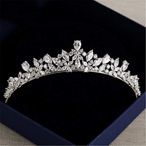 - Elegant Sparkling Zircon Brides Tiaras Headpieces Plated Crystal Bridal Crowns Headb s Wedding Dress Hair Accessories Silver
