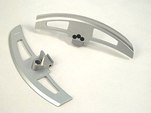 Silver painted Aluminum DSG Steering Wheel Paddle Extension Shifter Switch Shift for E46 ()