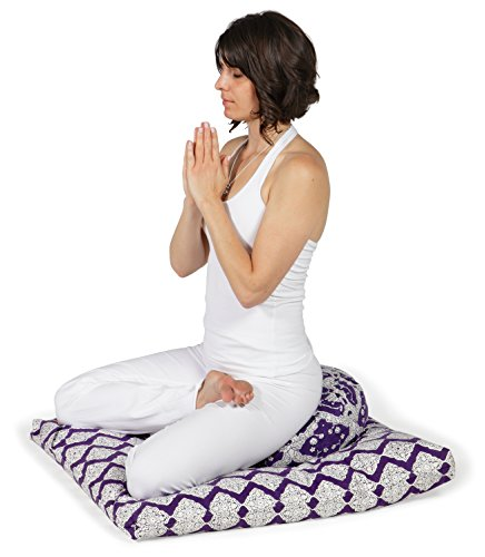 Plum Bagh Zafu & Plum Jali Zabuton Meditation Cushion Set