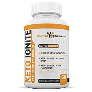 Keto Diet Pills - Ketogenic Fat Burner - Premium Weight Loss Formula - Increase Energy - Metabolism Support - All-Natural Ingredients - One Month Supply - Alpha Strength Labs