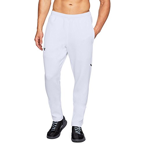 Under Armour Men's Forge Warm Up Pants, White (100)/Steel, Large (Pants White Warmup)