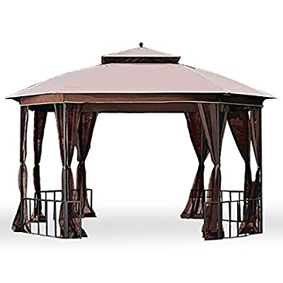 Garden Winds LCM1153B-RS Catalina Gazebo, Rip Lock 350 Replacement Canopy, Beige : Garden & Outdoor
