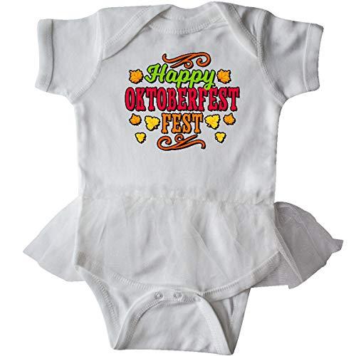 (inktastic - Happy Oktober Fest with Infant Tutu Bodysuit Newborn White)
