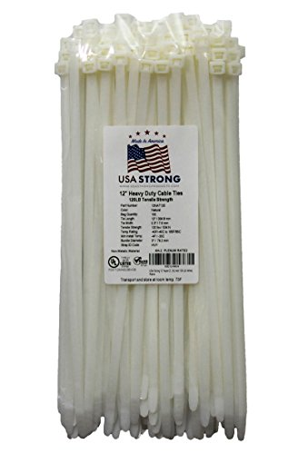 white nylon zip ties - 8