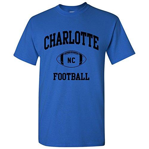 Charlotte Classic Football Arch Basic Cotton T-Shirt - Medium - Royal
