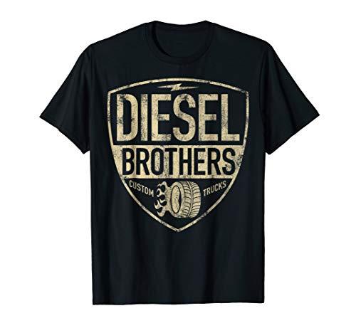 Apparel Womens Diesel (Diesel Brothers Custom Trucks Shield Vintage Graphic T-Shirt)