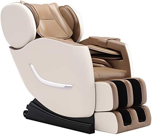 FOELRO 2020 New Zero Gravity Recliner,Shiatsu Full Body Electric Massage Chair Built-in Bluetooth for Shoulders,hands,Back,Waist,Buttocks,Legs and ft (Khaki)
