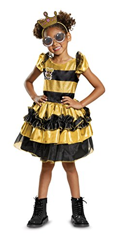 Disguise Queen Bee Deluxe Child Costume, Yellow, Medium/(7-8) -